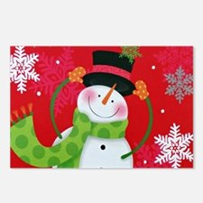 Happy Snowman Postcards (Package of 8)