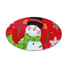Happy Snowman Wall Decal