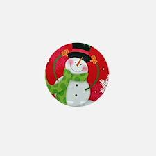 Happy Snowman Mini Button (10 pack)
