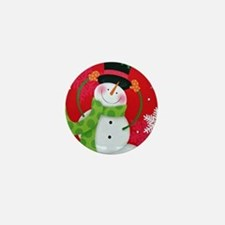 Happy Snowman Mini Button