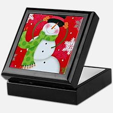 Happy Snowman Keepsake Box