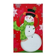 Happy Snowman Area Rug