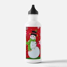 Happy Snowman Water Bottle