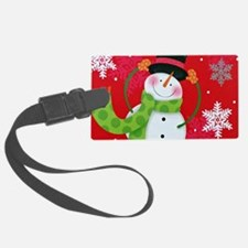 Happy Snowman Luggage Tag