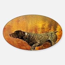 vintage hunting pointer dog Decal