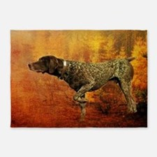 autumn hunting pointer dog 5'x7'Area Rug