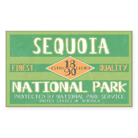 Sequoia National Park (Retro) Sticker (Rectangular