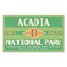 Acadia National Park (Retro) Rectangle Decal