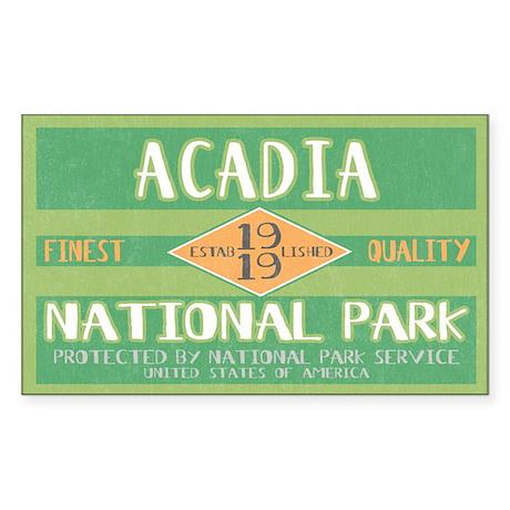 Acadia National Park (Retro) Rectangle Sticker