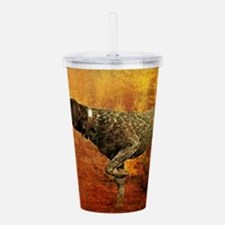 autumn hunting pointer Acrylic Double-wall Tumbler