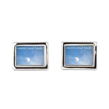 Cute Love you to the moon and back Rectangular Cufflinks