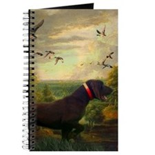 vintage hunting pointer dog Journal