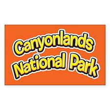 Canyonlands National Park (Cartoon) Decal