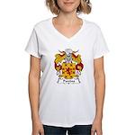 Paredes Family Crest Women's V-Neck T-Shirt