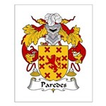 Paredes Family Crest Small Poster