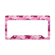 Unicorn Camouflage Pink License Plate Holder