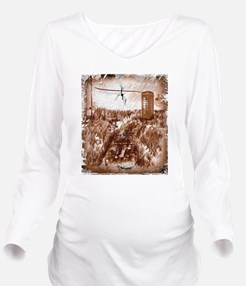 Old phone booth Long Sleeve Maternity T-Shirt
