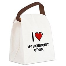 I Love My Significant Other Canvas Lunch Bag