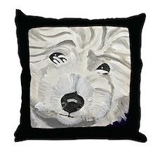 Unique Dog art Throw Pillow