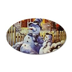 Father & Son Snowman Wall Decal
