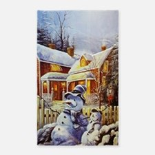 Father & Son Snowman Area Rug