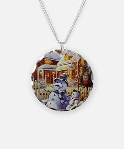 Father & Son Snowman Necklace