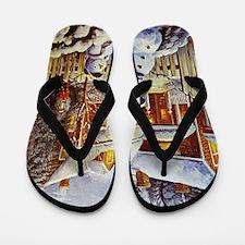 Father & Son Snowman Flip Flops