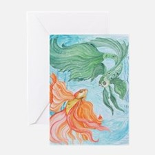 Beta Fish Greeting Card