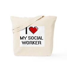 I love My Social Worker Tote Bag