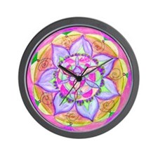 Cute Mauve Wall Clock