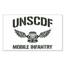 UNSCDF Mobile infantry Rectangle Decal