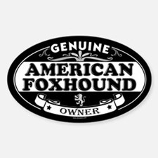 AMERICAN FOXHOUND Oval Decal