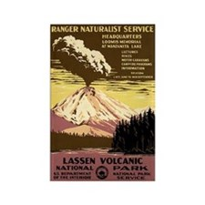 1930s Vintage Lassen Volcanic National Park Rectan
