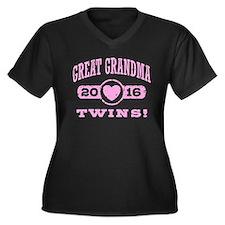 Great Grandm Women's Plus Size V-Neck Dark T-Shirt