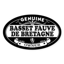 BASSET FAUVE DE BRETAGNE Oval Decal