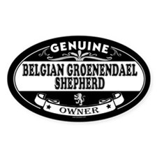 BELGIAN GROENENDAEL SHEPHERD Oval Decal