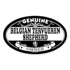 BELGIAN TERVUEREN SHEPHERD Oval Decal