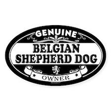 BELGIAN SHEPHERD DOG Oval Stickers