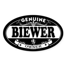 BIEWER Oval Decal
