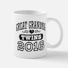 Great Grandma 2016 Twins Small Mugs