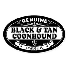 BLACK AND TAN COONHOUND Oval Bumper Stickers