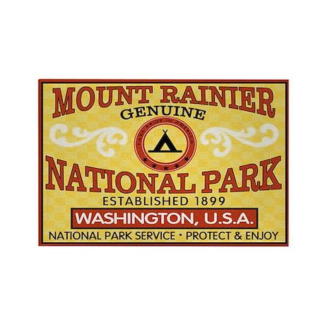 Mount Rainier National Park Rectangle Magnet