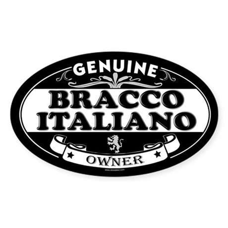 BRACCO ITALIANO Oval Sticker