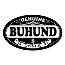 BUHUND Oval Decal