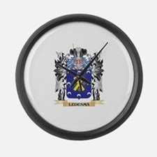Ledesma Coat of Arms - Family Cre Large Wall Clock