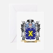 Ledesma Coat of Arms - Family Crest Greeting Cards