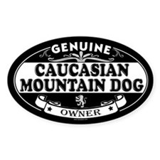 CAUCASIAN MOUNTAIN DOG Oval Decal