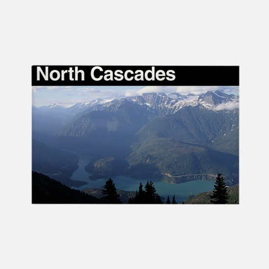 North Cascades National Park Rectangle Magnet