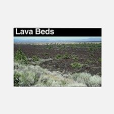 Lava Beds NM Rectangle Magnet
