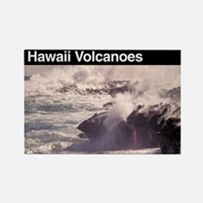 Hawaii Volcanoes Rectangle Magnet
